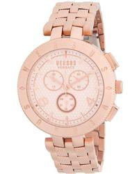Versus - Rose Goldtone Stainless Steel Bracelet Watch - Lyst