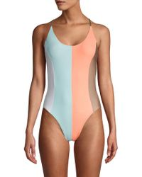 Pilyq - Farrah Colorblocked One-piece Swimsuit - Lyst