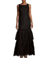 Adrianna Papell - Tiered Embroidered Dress - Lyst