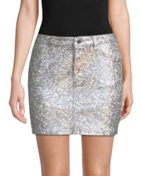 DL1961 - Brit Metallic Pencil Skirt - Lyst