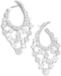 Adriana Orsini - Dazzle Crystal Hoop Earrings - Lyst