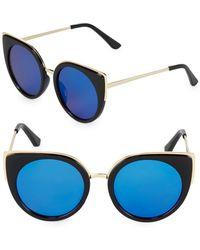 Fantaseyes - Mirrored 51mm Cat Eye Sunglasses - Lyst