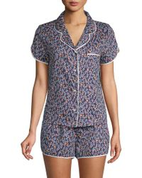 Jane And Bleecker - Two-piece Printed Short-sleeve Pajama Set - Lyst
