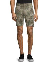 Slate & Stone - Novelty Ross Tropical-print Cotton Cargo Shorts - Lyst