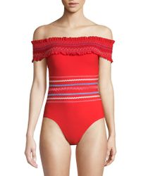 Red Carter - One-piece Off-the-shoulder Swimsuit - Lyst