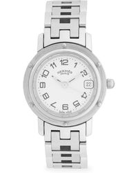 Hermès - Vintage Clipper Stainless Steel Bracelet Watch - Lyst