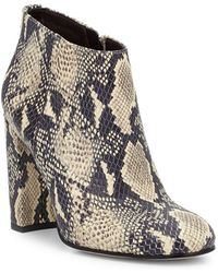 Sam Edelman | Campbell Printed Leather Ankle Boots | Lyst