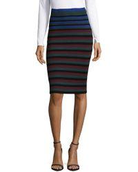 Ronny Kobo - Stripe Pencil Skirt - Lyst