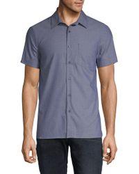 Perry Ellis - Slim-fit Dobby Button-down Shirt - Lyst