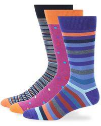 Saks Fifth Avenue - Three-pack Fashion Assorted Crew Socks - Lyst