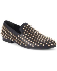 Saks Fifth Avenue - Studded Tonal Smoking Slippers - Lyst
