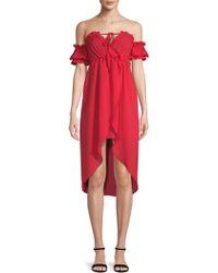 Haute Rogue - Sue Off-the-shoulder Dress - Lyst
