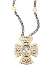 Freida Rothman - Maltese Pendant Necklace - Lyst