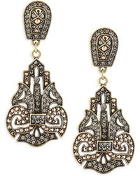 Heidi Daus - Dramatic Holiday Crystal Drop Earrings - Lyst