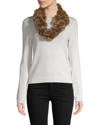 Surell - Dyed Rex Rabbit Fur Ball Loop Scarf - Lyst