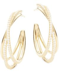 Adriana Orsini - Illusion Crystal Hoop Earrings - Lyst