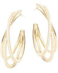 Adriana Orsini | Illusion Crystal Hoop Earrings | Lyst