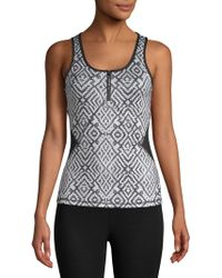 X By Gottex - Open Zip Fitted Tank Top - Lyst