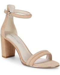 Kenneth Cole - Lucie Suede Block Heels - Lyst