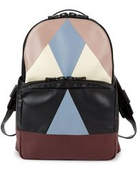 Valentino - Multicolored Geometric Leather Backpack - Lyst