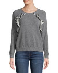 Splendid - Ruffle-trim Sweatshirt - Lyst
