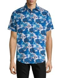 Robert Graham - Knoboak Cotton Button-down Shirt - Lyst