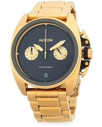 Nixon - Stainless Steel Textured Bracelet Watch - Lyst