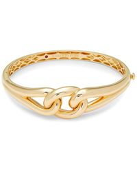 Roberto Coin - Yellow Gold Double Knot Bangle - Lyst