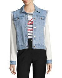 Each x Other - Mixed Media Graphic Trucker Jacket - Lyst