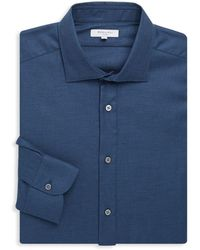 Boglioli - Slim-fit Spread Collar Cotton Dress Shirt - Lyst