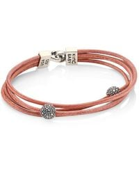 King Baby Studio - Multi-strand Leather & Sterling Silver Bracelet - Lyst