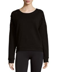 Betsey Johnson - Roundneck Cotton Pullover - Lyst