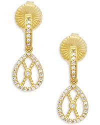 Freida Rothman - Textured Open Filligrain Sterling Silver Teardrop Earrings - Lyst