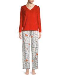 Hue - Two-piece Cardinal Forest Pyjama Set - Lyst