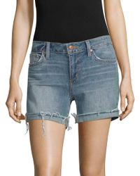 Joe's Jeans - Raw-edge Denim Shorts - Lyst