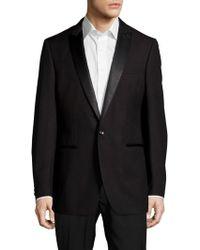 Calvin Klein - Peak-lapel Wool One-button Jacket - Lyst