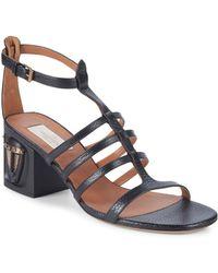 Valentino - Embellished Leather Sandals - Lyst