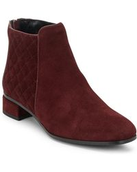 Aquatalia - Laurel Suede Booties - Lyst