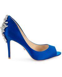 Badgley Mischka - Nilla Peep Toe Court Shoes - Lyst