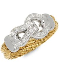 Alor - Diamonds, 18k White & Yellow Gold Ring - Lyst