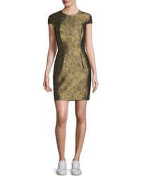 Diane von Furstenberg - Hadlie Two Gold Jacquard Mini Dress  - Lyst