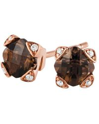 Le Vian | Chocolate & Vanilla Diamond, Smoky Quartz And 14k Strawberry Gold Earrings | Lyst