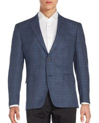 Tommy Hilfiger - Notch Lapel Windowpane Jacket - Lyst