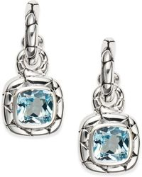 John Hardy - Kali Blue Topaz & Sterling Silver Drop Earrings - Lyst