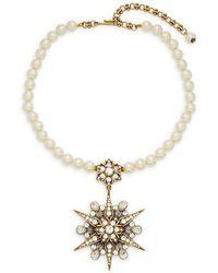Heidi Daus - Starlight Faux Pearl Pendant Necklace - Lyst