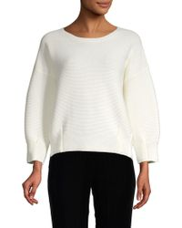 French Connection - Rib-knit Sweatshirt - Lyst