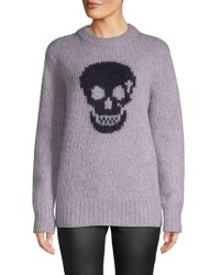 360cashmere - Skull-print Textured Sweater - Lyst