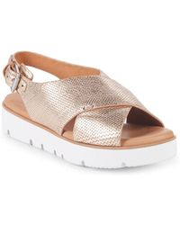 Gentle Souls - Kiki Leather Platform Sandals - Lyst