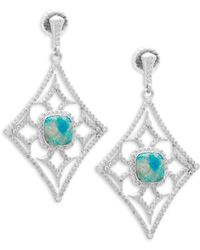 Armenta - New World Gemstone & Diamond Large Cut-out Drop Earrings - Lyst