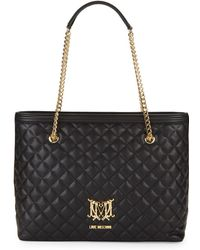 Love Moschino - Diamond Quilted Tote - Lyst